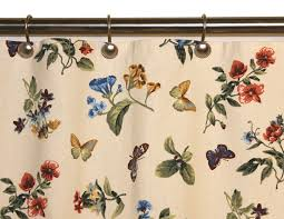 Colorful Fabric Shower Curtains Audrey Floral Print Fabric Shower Curtain Window Toppers