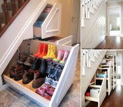 atrractive picture creative shoe storage under staiway desaign