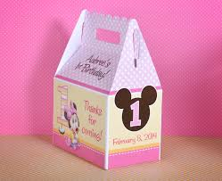 baby minnie mouse 1st birthday br personalized gable box favor