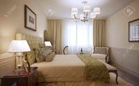 chambre d hotel de luxe conception de la chambre d hôtel de luxe rendu 3d banque d images