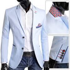 light blue jacket mens men s blazer light blue jacket casual formal check blue finish slim