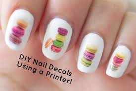nail art diy nail art decals using printer youtube christmas cnd