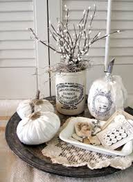 welcome fall into your home with white decorations that look