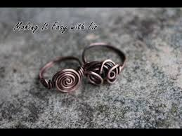 make wire rings images How to make an easy wire ring 2 styles jpg