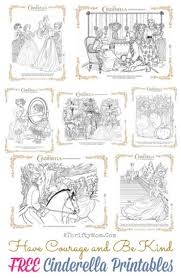 free cinderella printable coloring pages