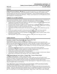 Sample Resume For Manager by Download Contract Quality Engineer Sample Resume