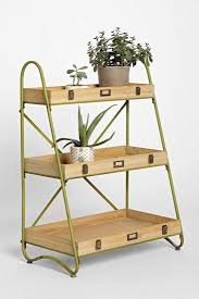 outdoor pot stand 3 tier ladder plant stand natural wooden trays