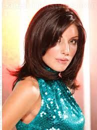 medium length tapered or layered hairstyles for women over 50 daring diva smooth brunette layered style hair and makeup