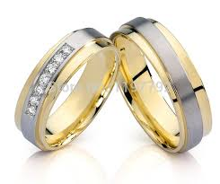 women s wedding bands top quality custom design made gold color men s and women s