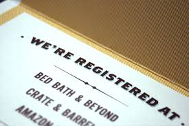 what to put on bridal registry where to put registry information on wedding invitation yourweek