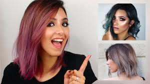 silver brown hair how i dye my hair from brown to silver blue pink youtube