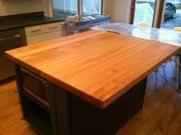 cherry wood saddle madison door kitchen island butcher block top