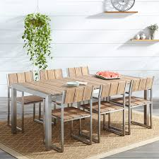 Patio Dining Set by Macon 7 Piece Rectangular Teak Outdoor Dining Table Set
