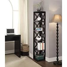Corner Bookcase Convenience Concepts Oxford 5 Tier Corner Bookcase