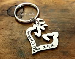 Buck And Doe Couples Necklace Buck Doe Keychain Etsy