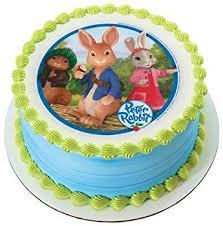 rabbit cake rabbit edible image cake topper grocery