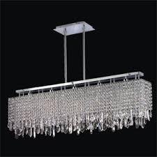 Rectangular Chandelier With Crystals Crystal Island Lights You U0027ll Love Wayfair