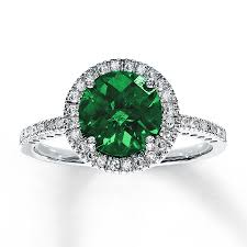 emerald bands rings images Kay lab created emerald ring 1 5 ct tw diamonds 10k white gold jpg