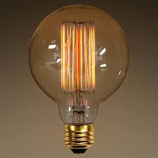40 watt vintage light bulb g30 globe
