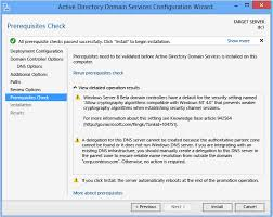 install a new windows server 2012 active directory forest level