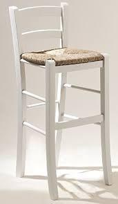 seduta sgabello sgabello sedia in legno bianco con seduta in paglia alto 67 cm pub