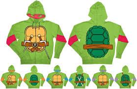 mutant turtles costume hooded sweatshirt with