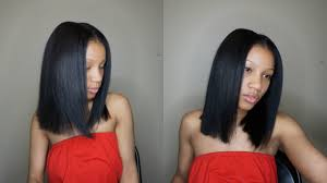 chin cut hairbob with cut in ends how to cut hair bob blunt cut youtube
