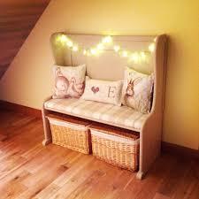 Cushions Shabby Chic by Upstyled Church Pew Irish Cream Chalk Paint Next Cushions