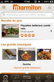 cuisine marmiton recettes entr marmiton les recettes de cuisine sur l appli iphone et