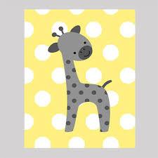 Giraffe Nursery Decor Baby Nursery Decor Polka Dots White Baby Giraffe Pictures For
