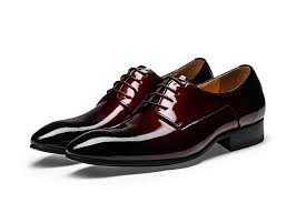 wedding shoes office cool pointed toe wine black derby shoes mens dress shoes