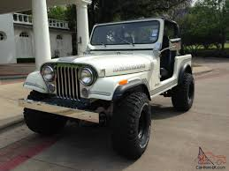 jeep willys white white 1983 amc jeep cj 7 4x4 cj cj7 wrangler 258 6 cylinder