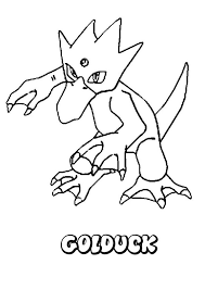 water pokemon coloring pages golduck pokemon amy