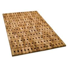 bathroom cozy teak shower mat for bathroom accessories ideas and