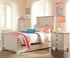 willowton twin size panel bed with trundle b267 ashley kids willowton panel bed with trundle twin size by ashley furniture b267