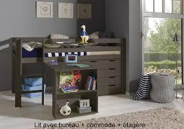lit combin bureau enfant lit enfant combiné bureau et rangement theo en pin massif so nuit