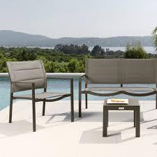 poltrone salotto salotto da giardino composto da divano 2 poltrone e tavolino touch