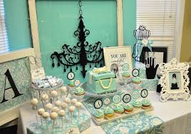 Tiffany Color Party Decorations Tiffany U0026 Co Breakfast At Tiffany U0027s Birthday Birthday Party