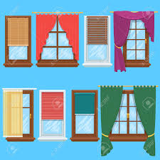 window curtains and blinds set jalousie for house or creative