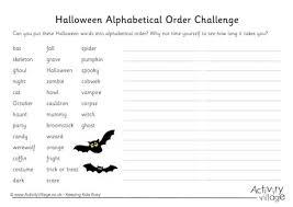 halloween alphabetical order challenge 2