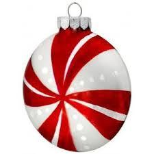 martha stewart living peppermint ornament set