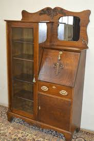Antique Desk With Hutch Oak Office Bookcaselarkin Antique 1900s Drop Front Tiger Oak