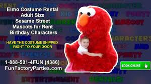 sesame street halloween costumes adults elmo costume rental size sesame street mascots for rent