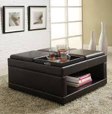 furniture fabric ottoman coffee table large square ottoman