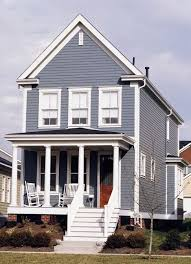 paint color ideas for colonial revival houses blue shutters