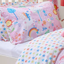 unicorn girls single quilt duvet cover and pillowcase bedding bed