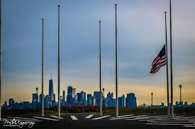 New Jersy Flag Flag Plaza Jersey City New Jersey View Of The Flag Plaza From