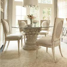 White Kitchen Table Sets Kitchen Captivating Art Intrigue Round Glass Top Dining Table