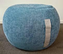 ottoman pouf duck egg blue pouf blue round pouf beanbag pouf