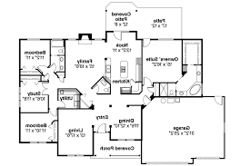 Floor Plan Of A House With Dimensions Ranch House Plans Pleasanton 30 545 Associated Designs